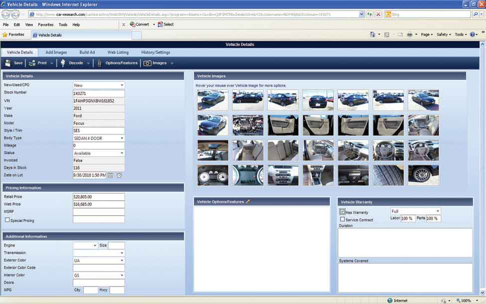 Car Research Inventory Management Solution Automotive Inventory